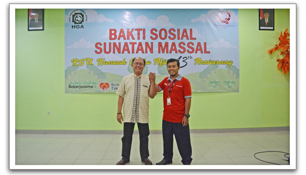 RSU HGA bekerja sama dengan Rumah Zakat