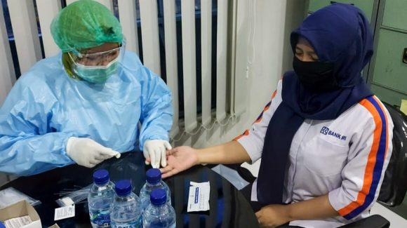 Screening Rapid Test Bank BRI Unit Citayam dan Nusantara Depok