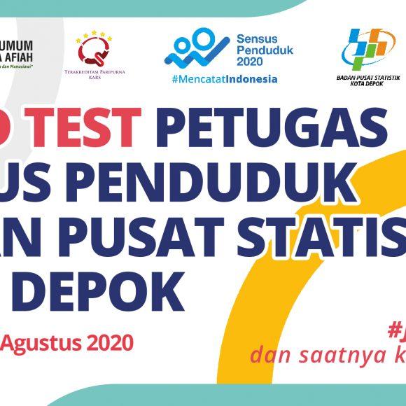 Screening Rapid Test Petugas Sensus Badan Pusat Statistik Kota Depok