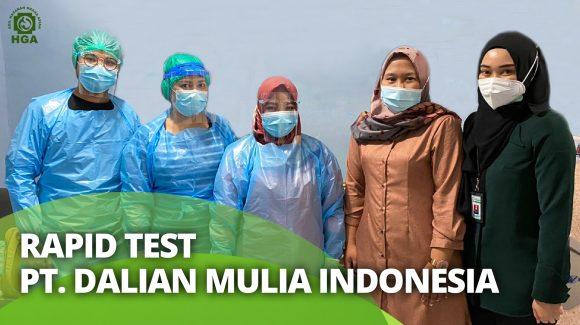Screening Rapid Test PT. Dalian Mulia Indonesia